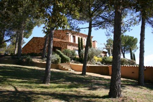 Maison à l'orée d'un village du Luberon, Roussillon, avec vue extraordinaire