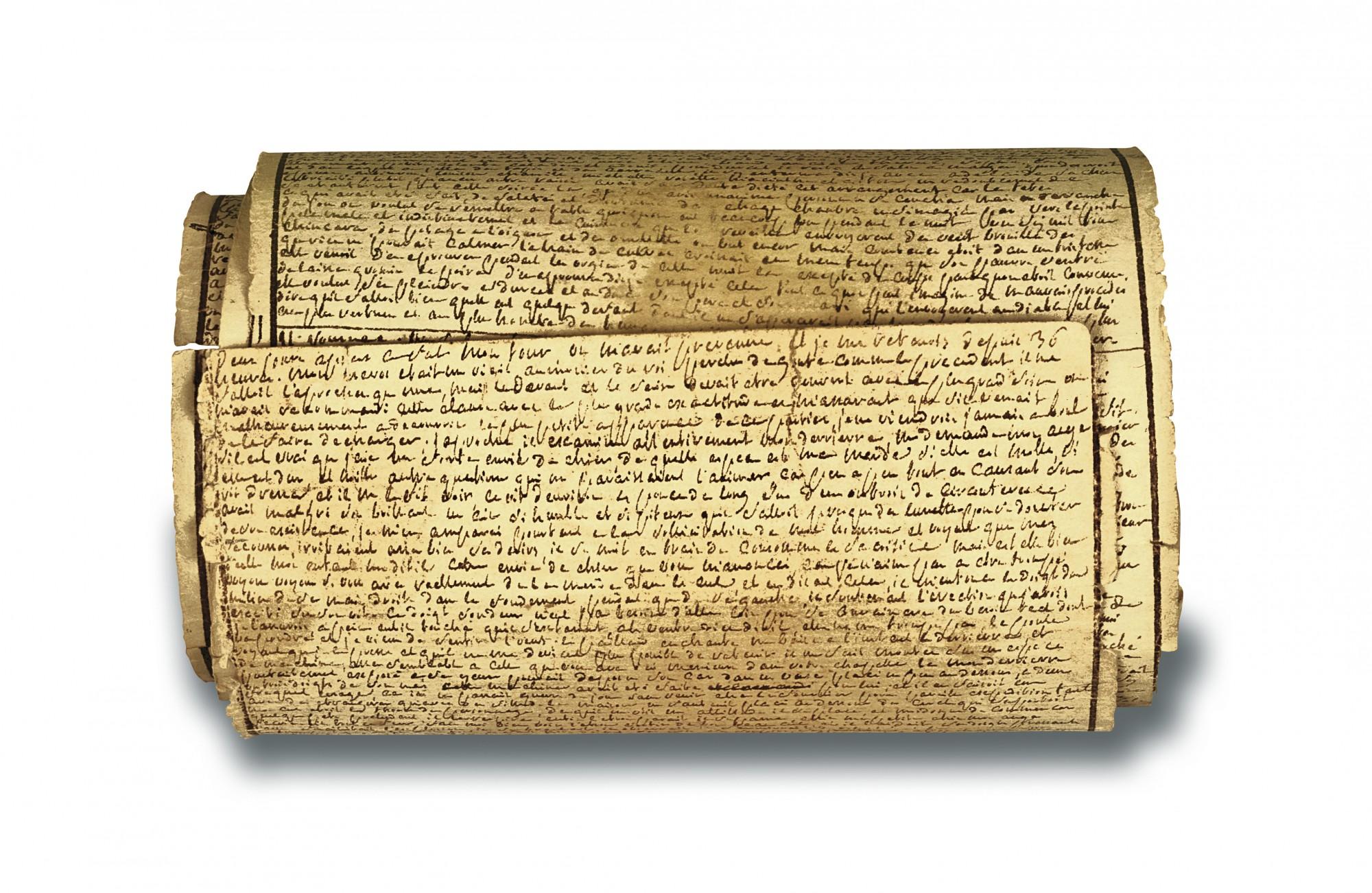 Manuscrit de Sade, © Fondation Martin Bodmer