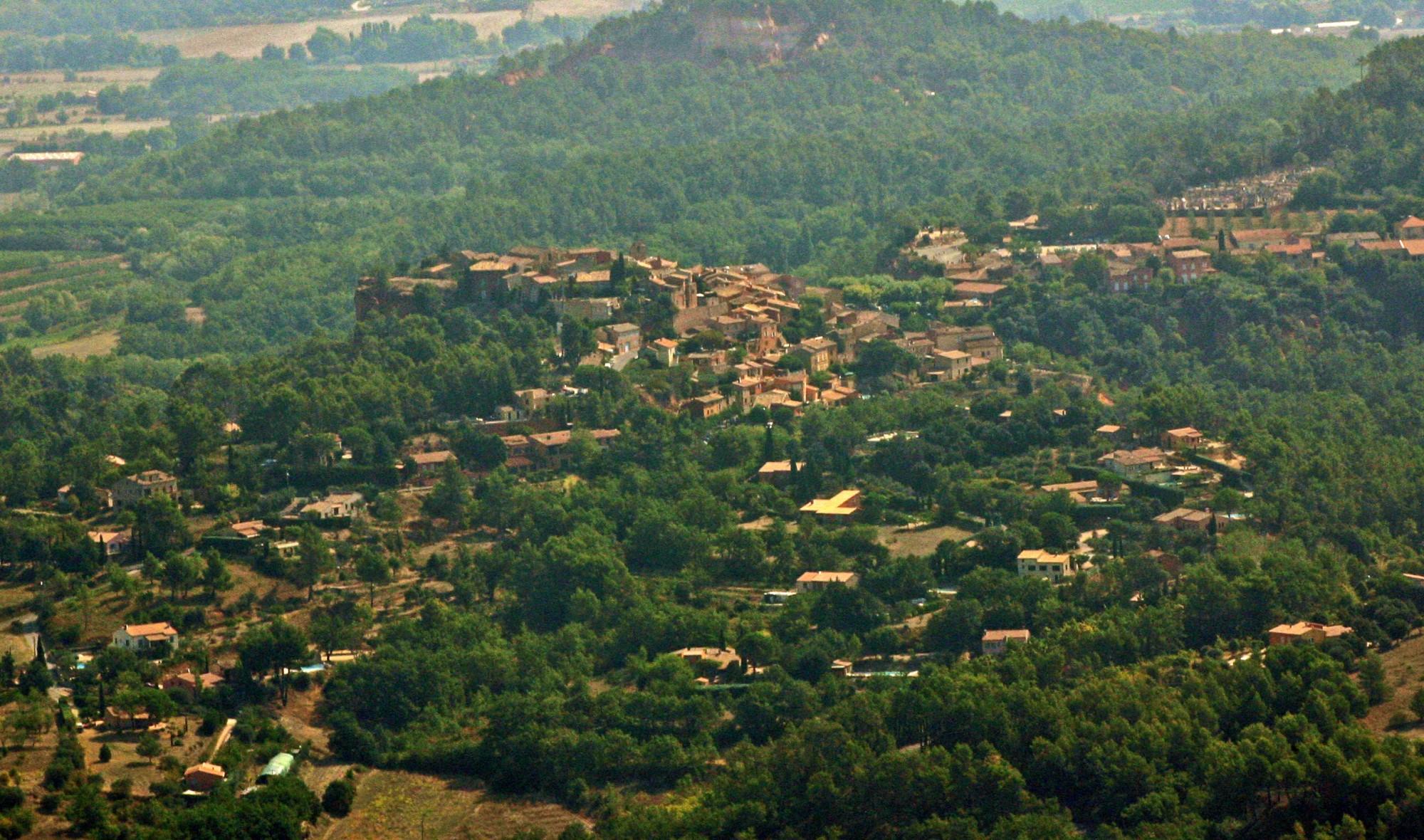 Vue aérienne de Roussillon, Vaucluse