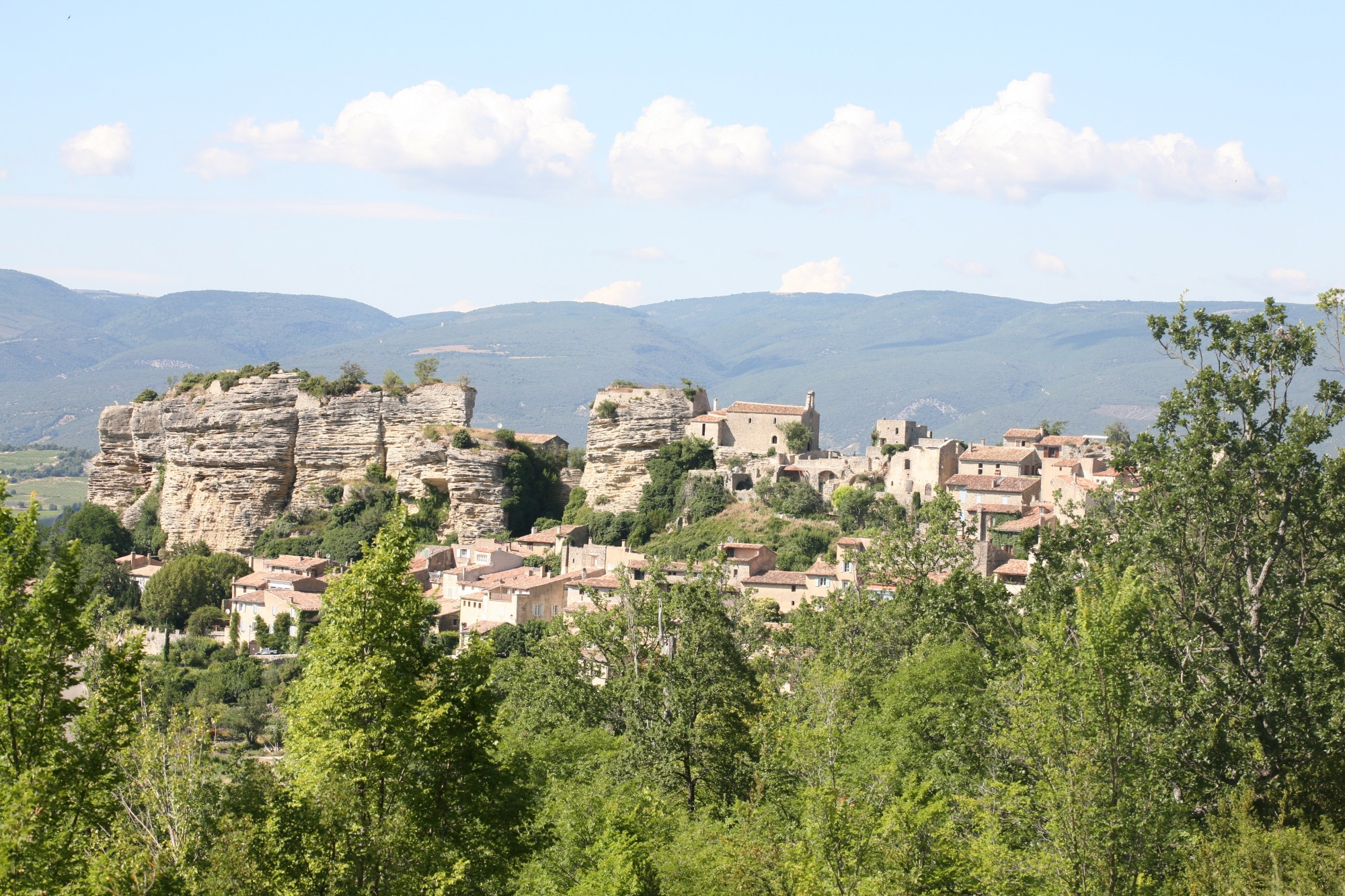 The medieval village of Saignon