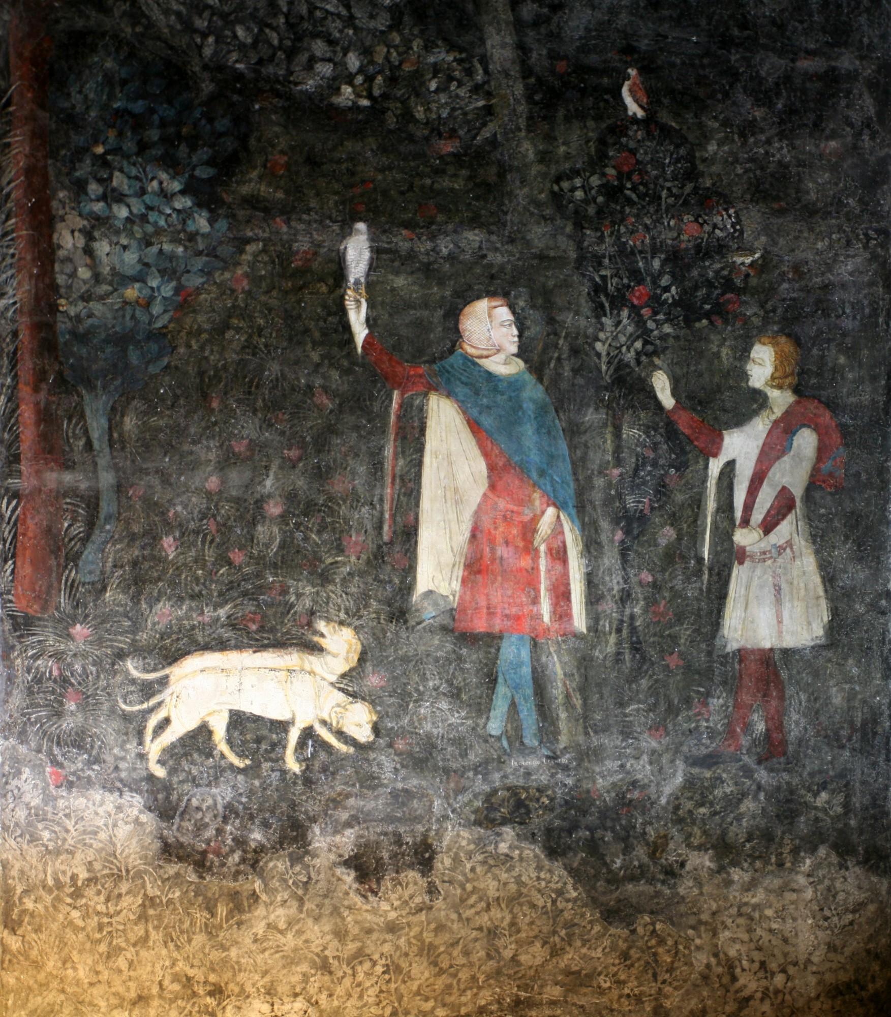 Le Palais des Papes, scène de chasse