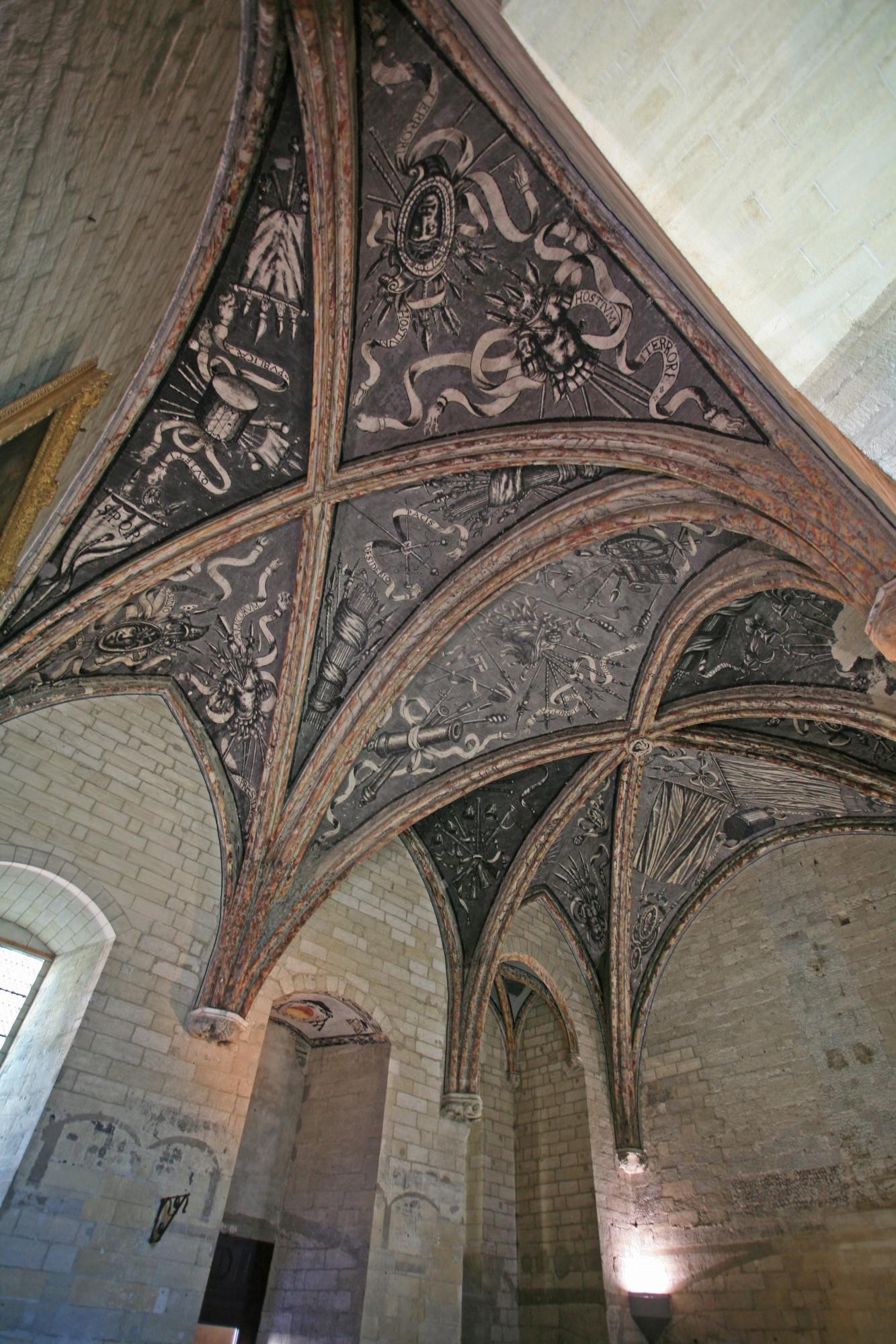 Le Palais des Papes, détails des plafonds