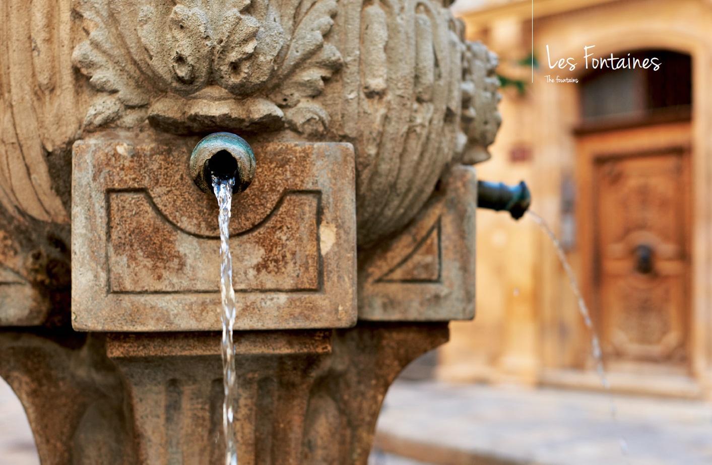 fontaines et bassins de villages en Provence