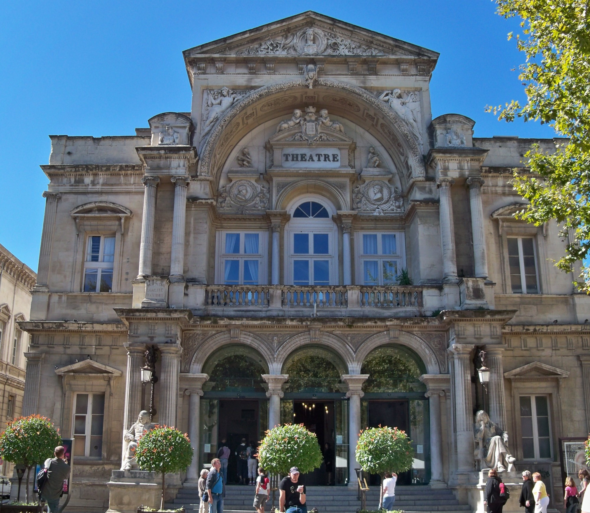L'opéra d'Avignon, façade principale