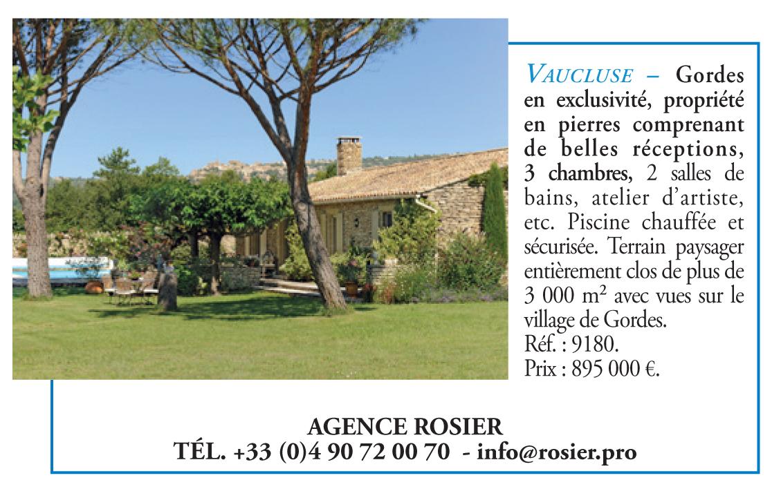 Publicité d'immobilier dans Le Figaro magazine