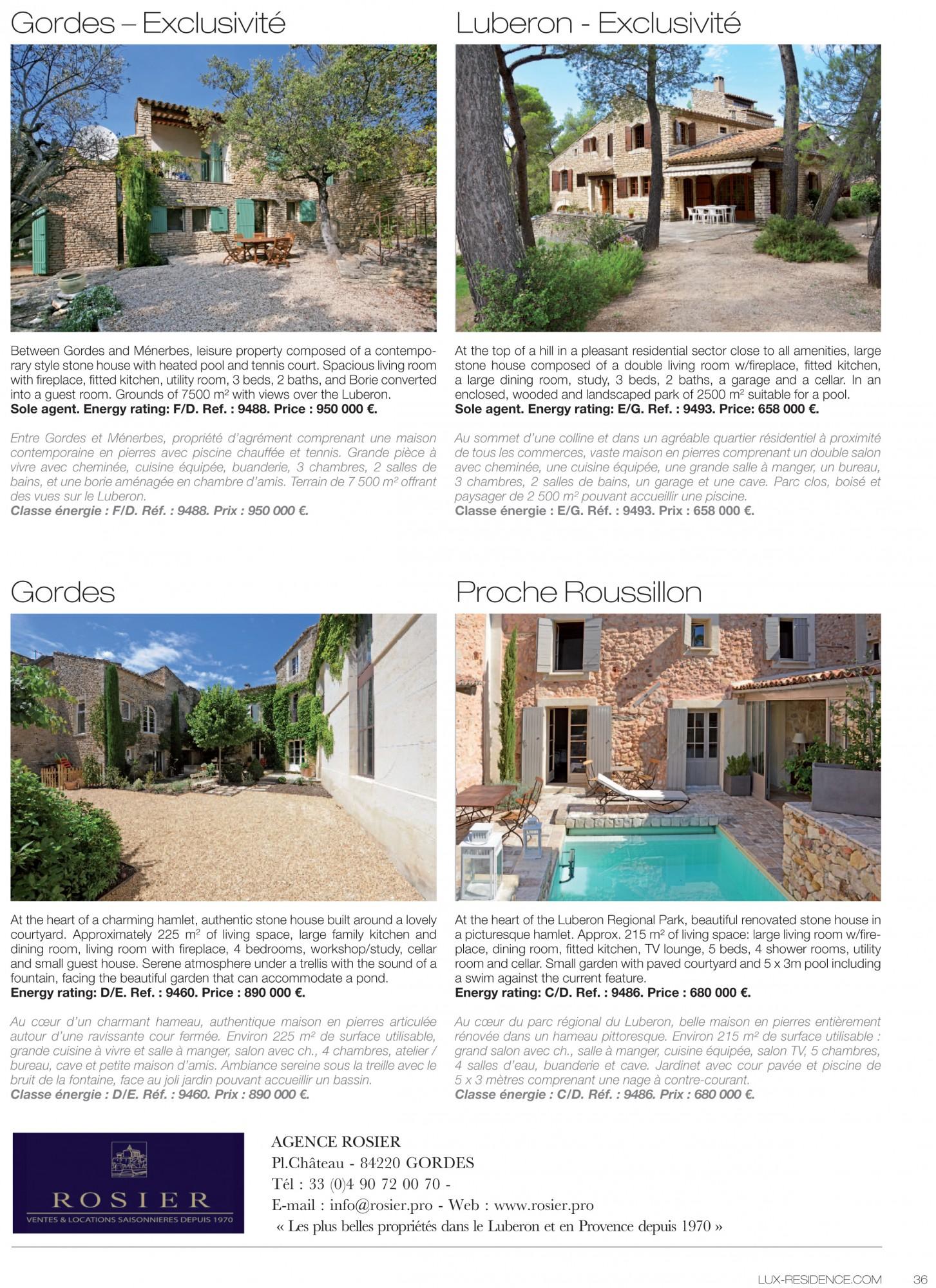 C Maison Et Jardin Magazine lux residence luxurious real estate magazine - rosier