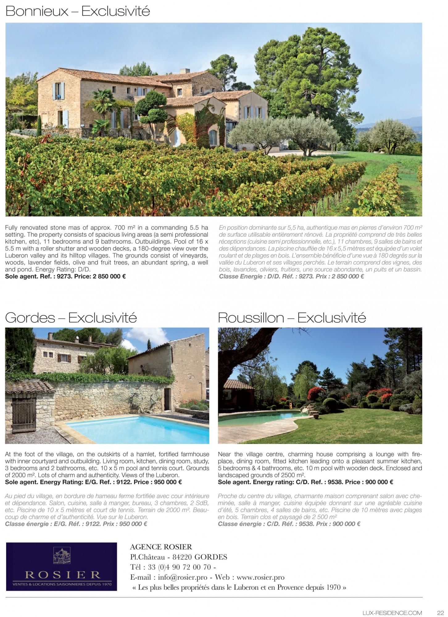 Lux Résidence, propriété de Rosier Immobilier