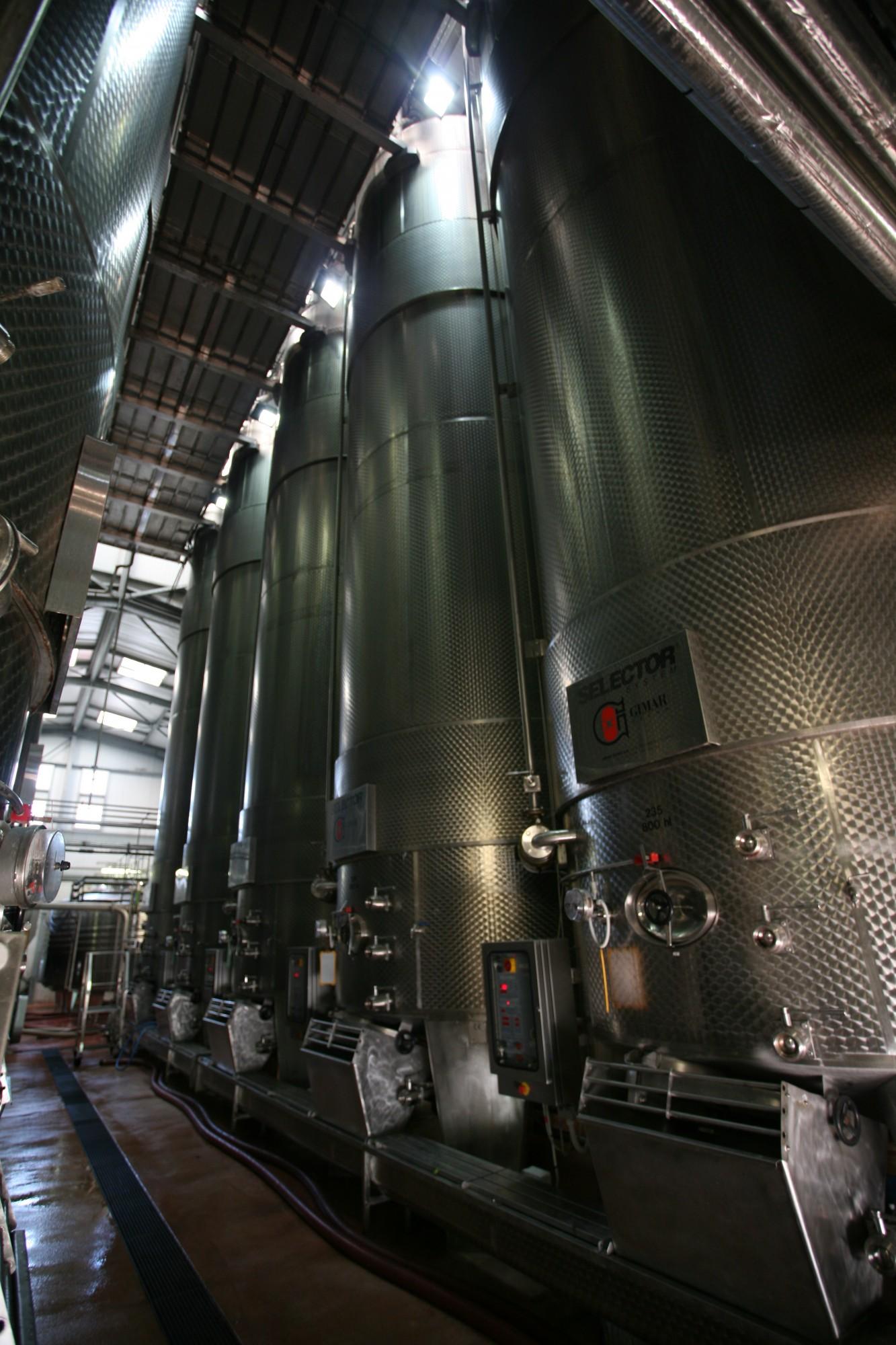 Cuve à vin en inox pour la vinification