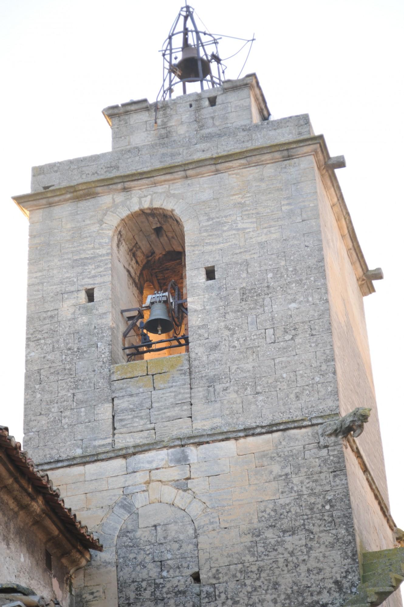 Le clocher de l'église de Gordes