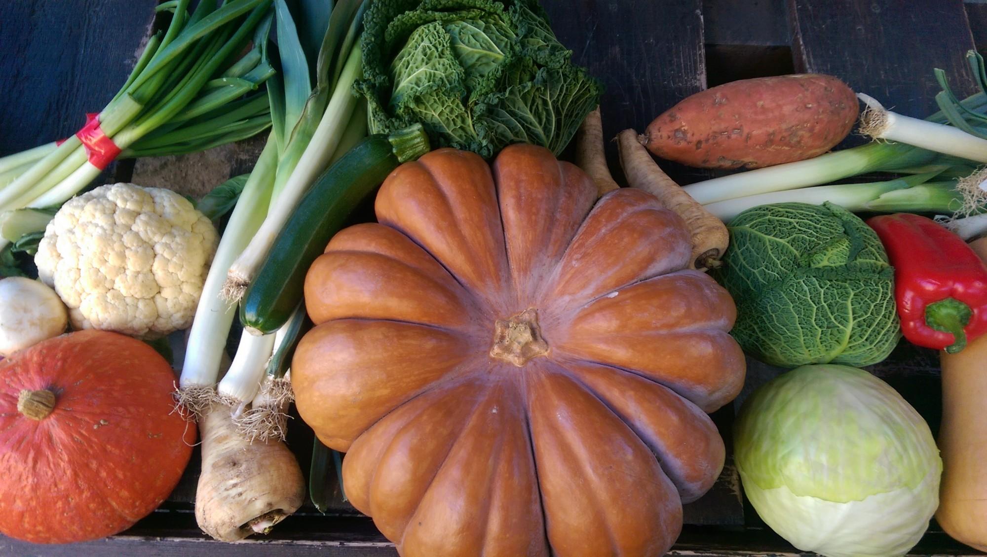 Etal de légume d'un marché du Luberon