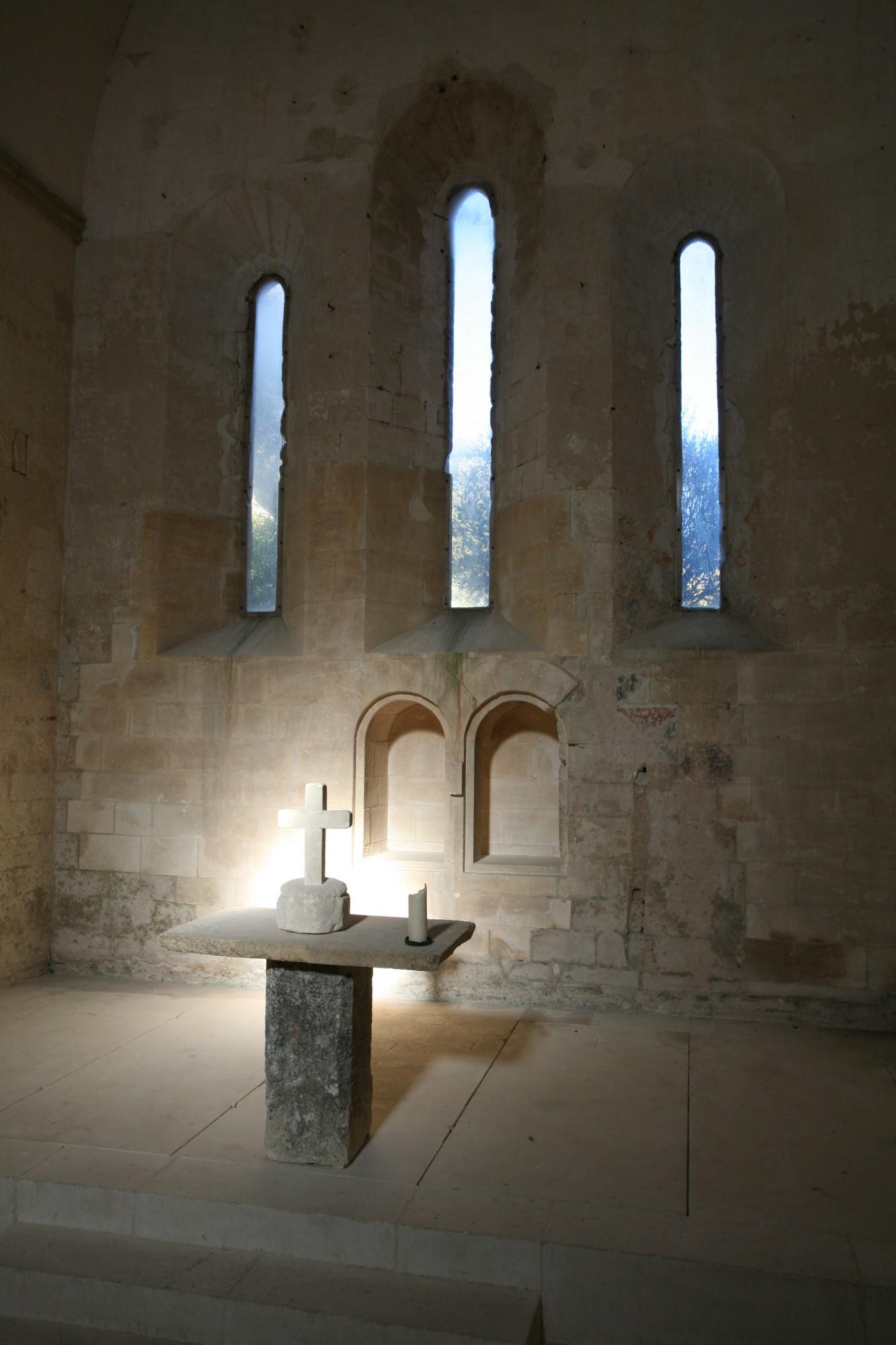 A l'intérieur de l'église de Saint-Hilaire, Ménerbes