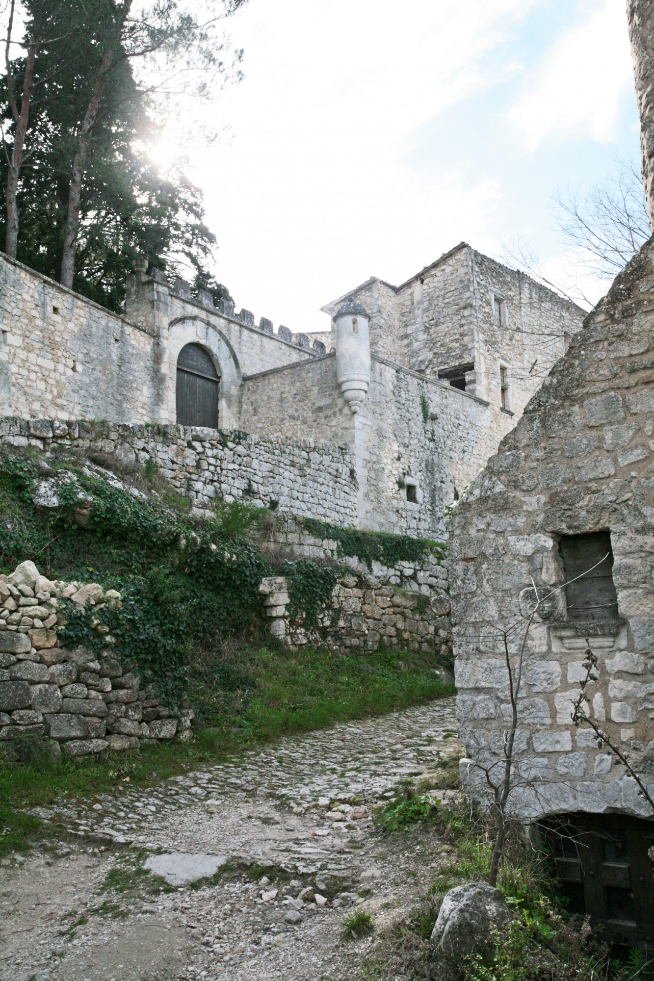 Rue dans la montée vers le chateau d'Oppède-le-vieux