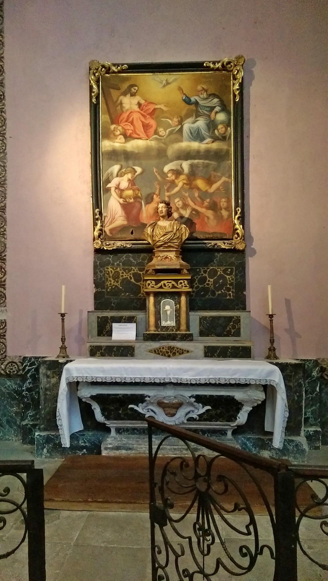 Chapelle funéraire, le jugement dernier, église de Gordes, Luberon