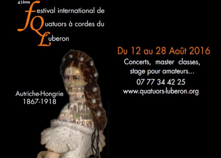 Le Festival International de QUATUORS à CORDES du Luberon