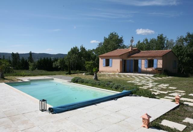 Maison de plain pied avec piscine et vue a Roussillon en Luberon