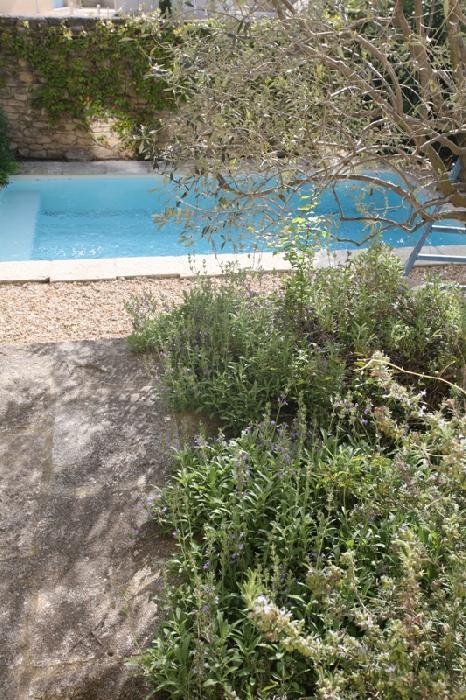 Proche Luberon, maison au coeur d'un charmant village, cour paysagée, piscine et parking privé