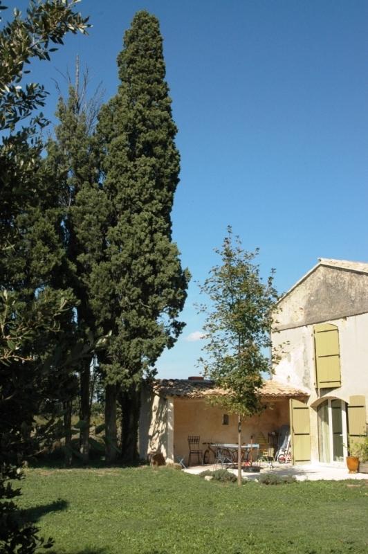 En vente, entre Luberon et Alpilles,  mas rénové du XVIIIème siècle avec un joli jardin,  au coeur d'un village provençal,
