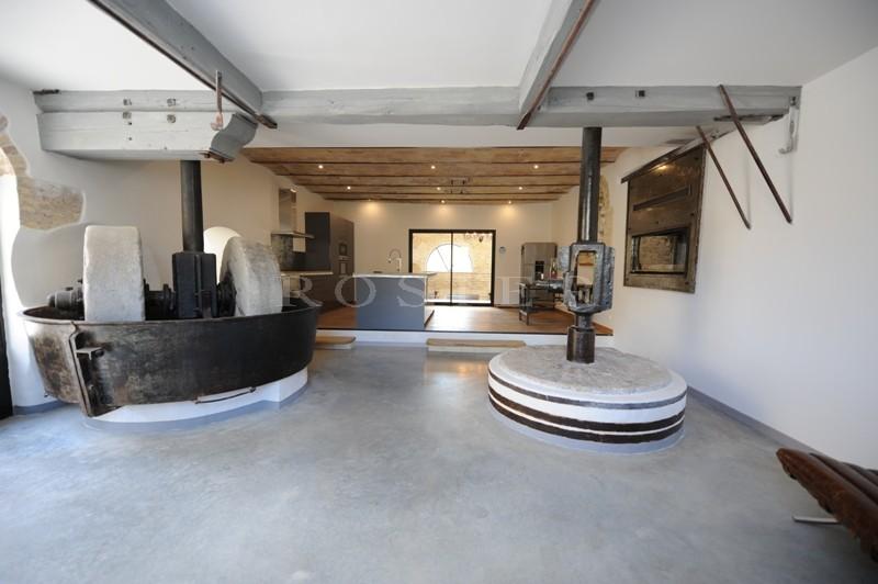 A vendre,  près d'Avignon, ancienne usine réhabilitée, 300 m² développés dans un esprit contemporain   avec patio, fontaine et piscine