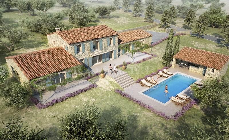 A Gordes, en vente,  terrain à bâtir de 4 900 m² avec permis de construire en cours