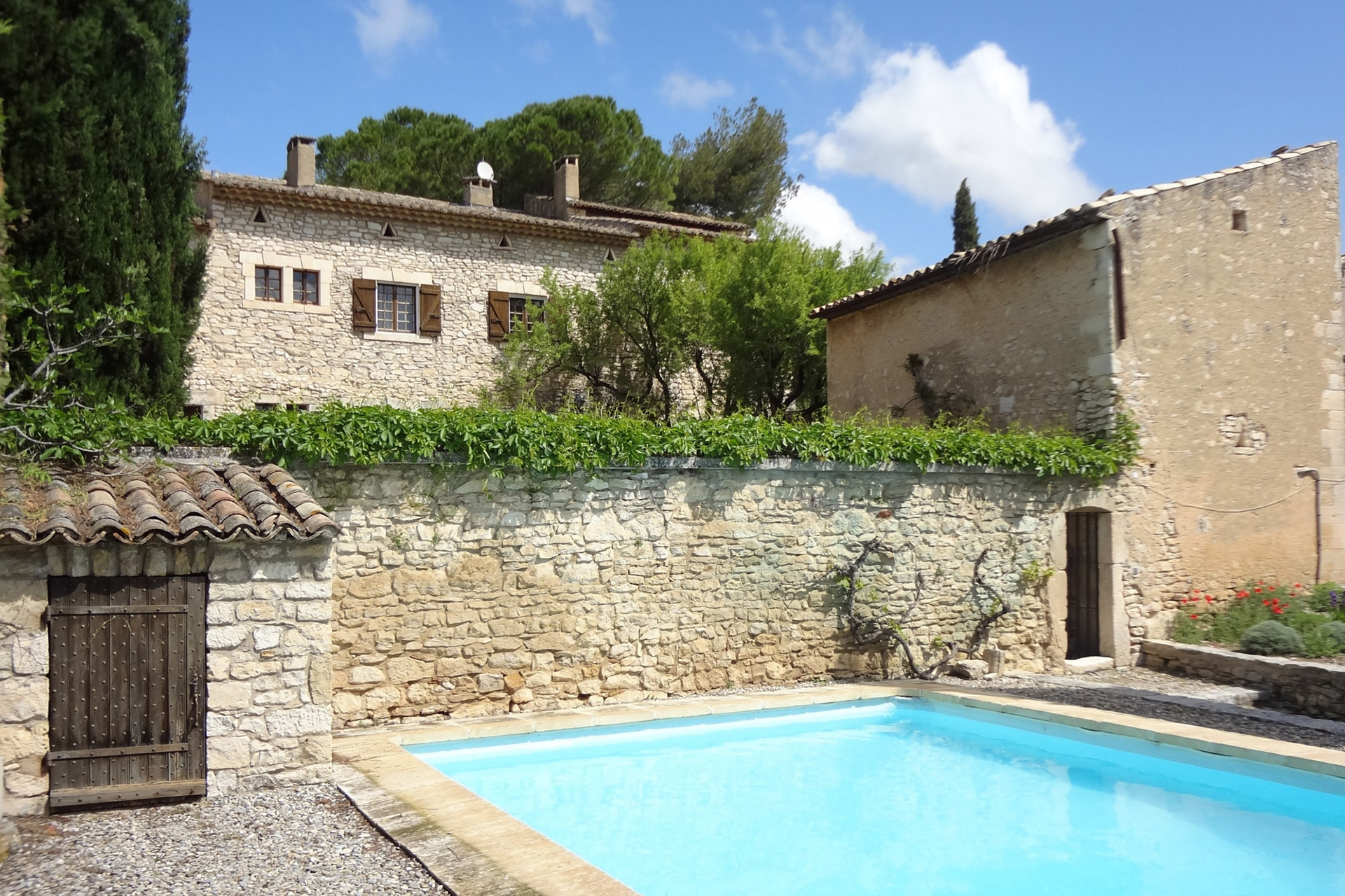 fortified farmhouse with garden pool and tennis court for sale
