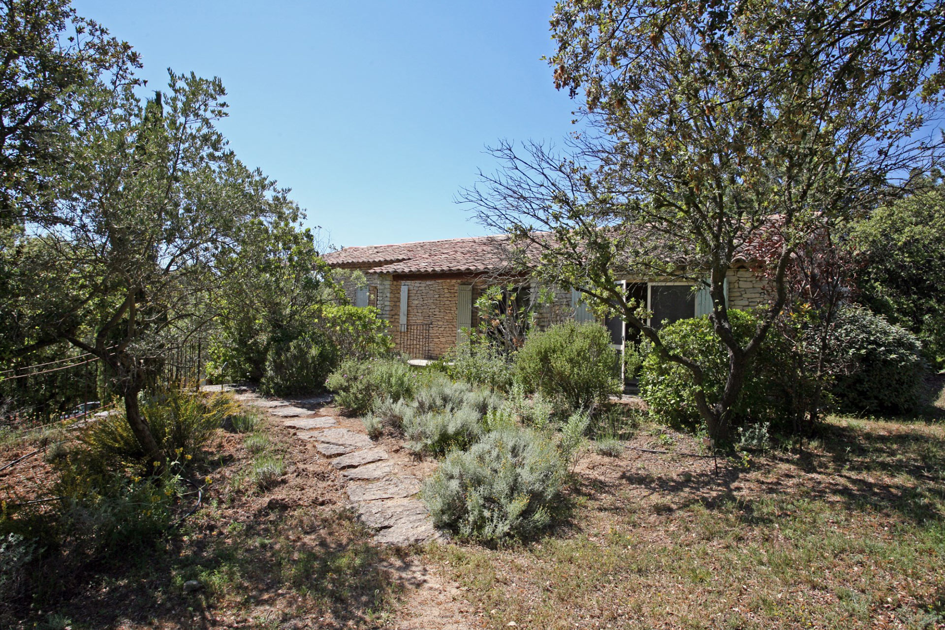 stone property with pool tennis court and views for sale in gordes