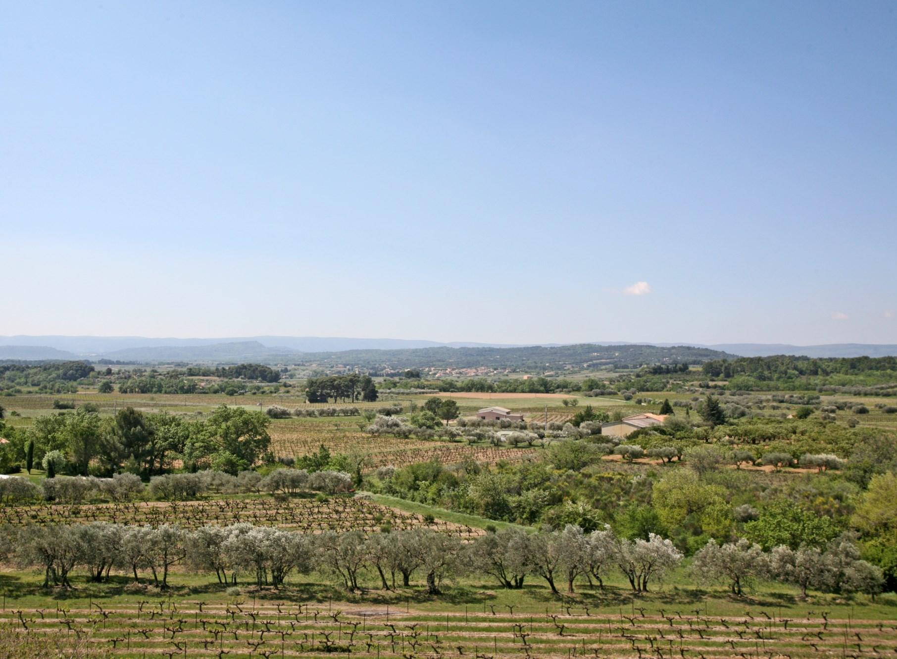 Superbe vue sur la vallée, paysage superbe en Provence