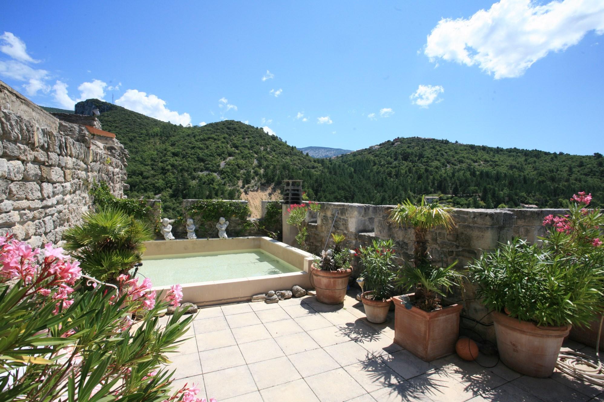 Demeure seigneuriale fortifiée avec piscine en vente en Provence