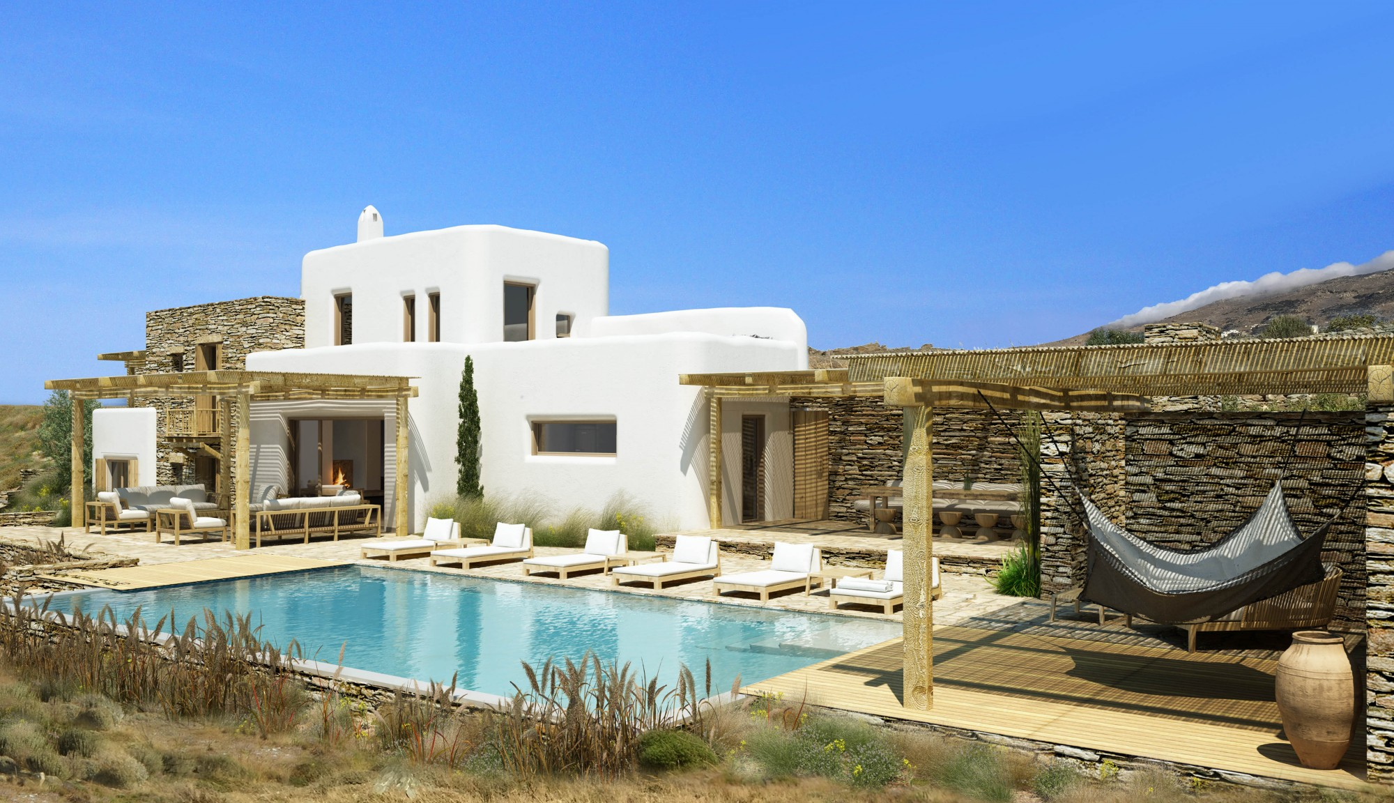 Superbe villa avec piscine en Grèce