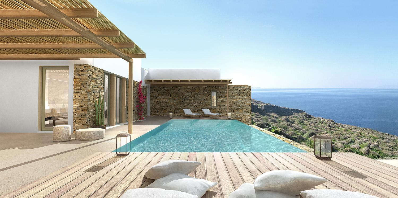 Ventes superbe villa moderne grecque sur l 39 ile de tinos for Les villa moderne