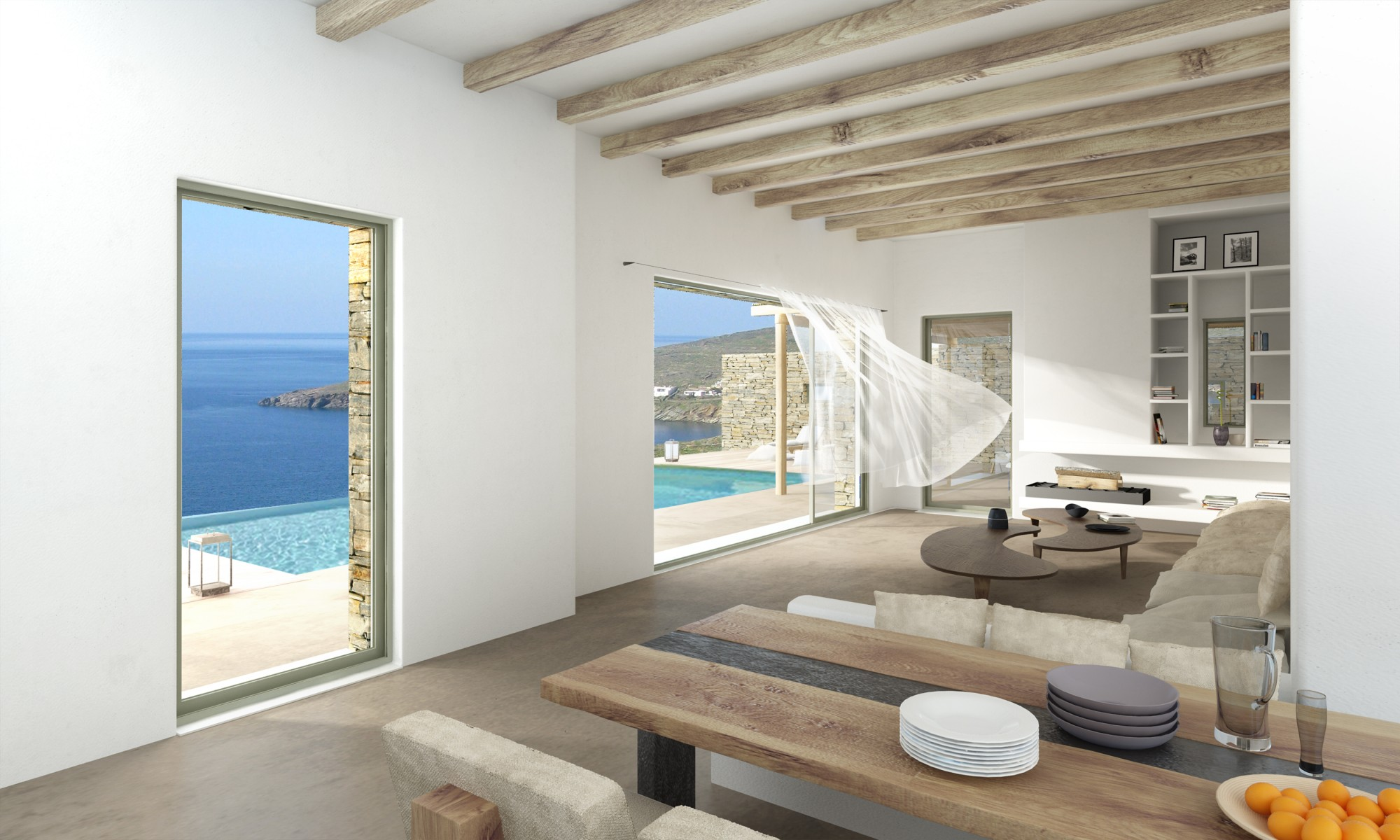 For sale superb modern villa on the greek island of tinos for Villa contemporaine