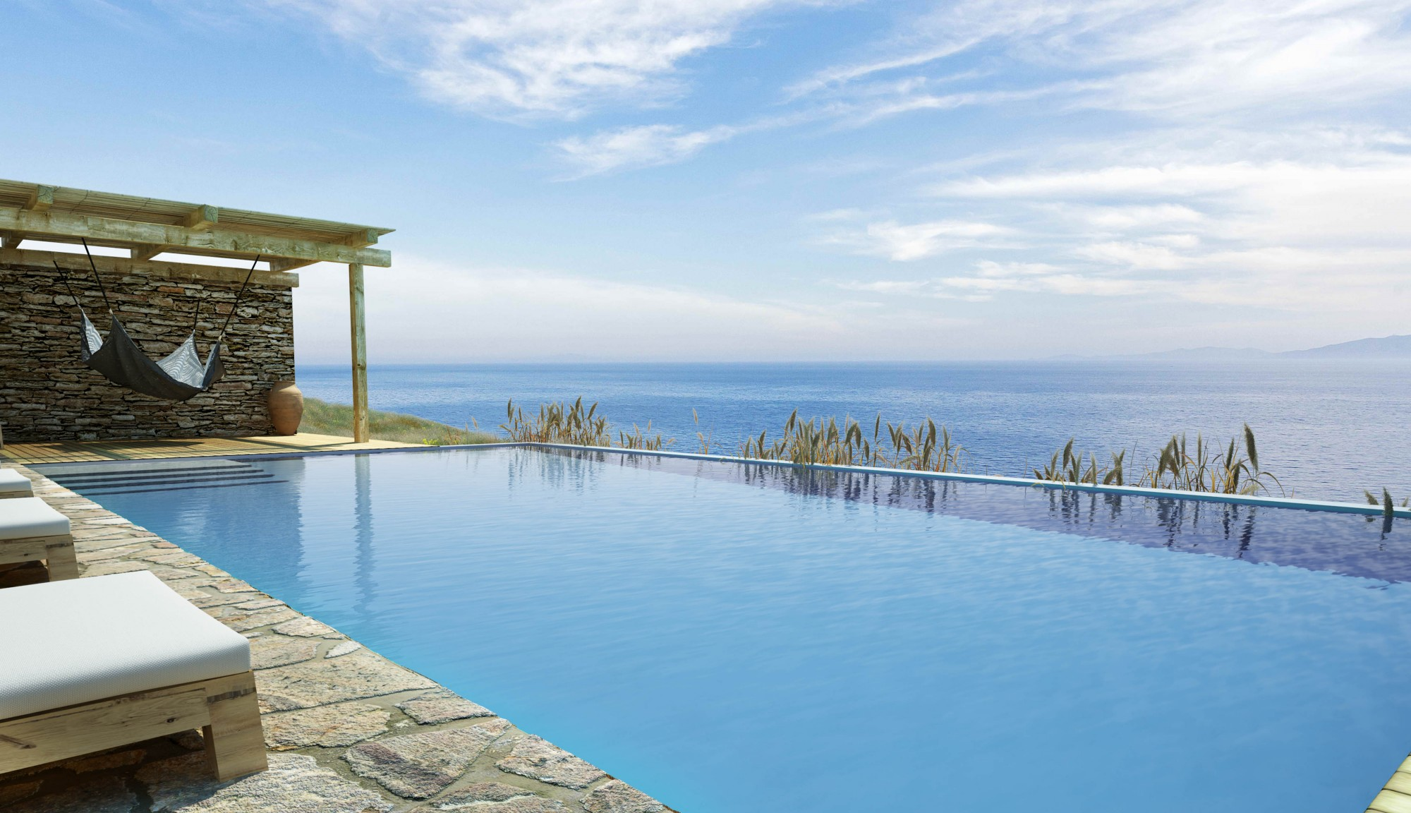 Vue sur la mer en Grèce depuis le site