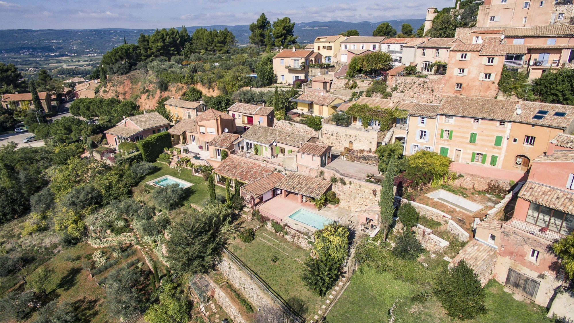 Construction project in the Luberon