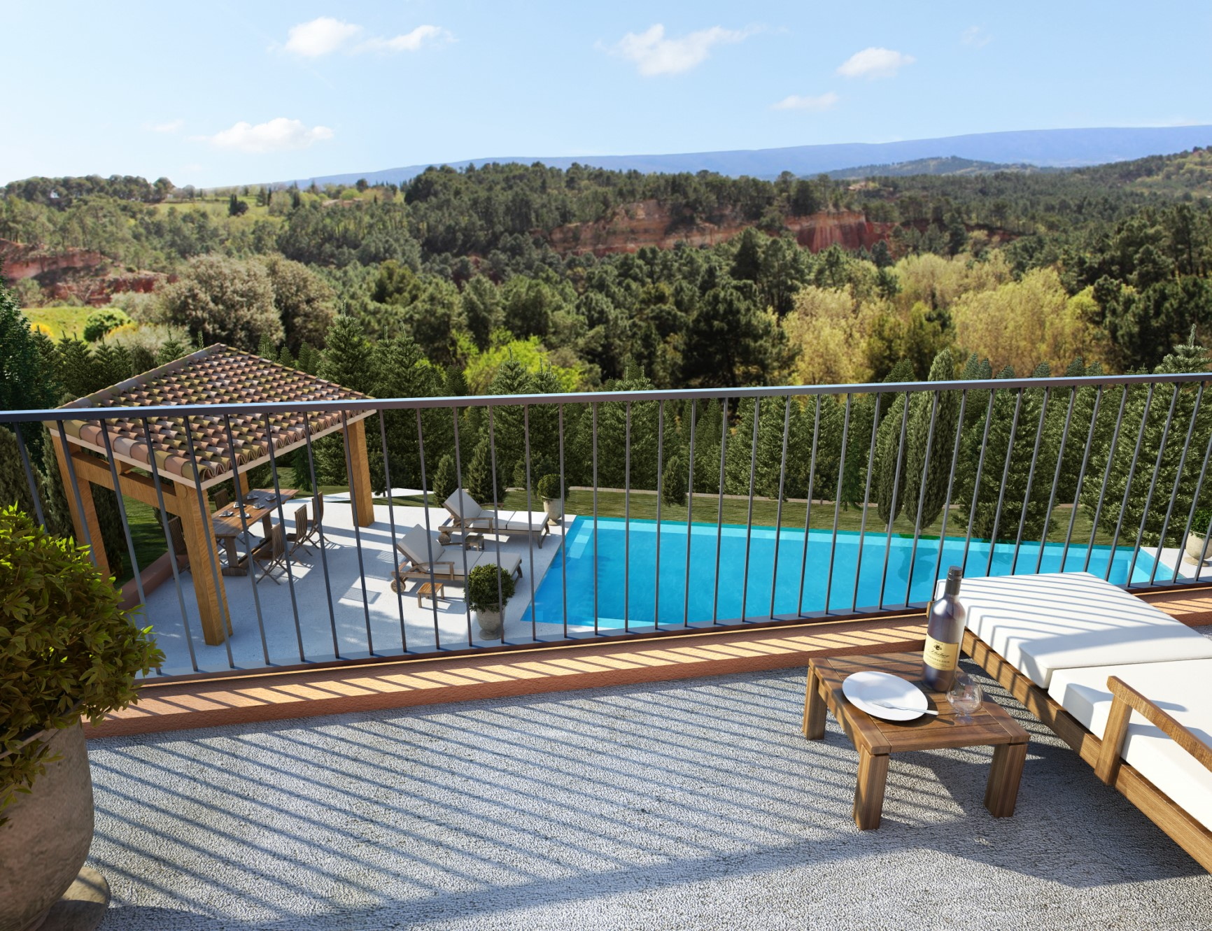 Terrain à vendre en Luberon avec un projet de construction d'une maison contemporaine