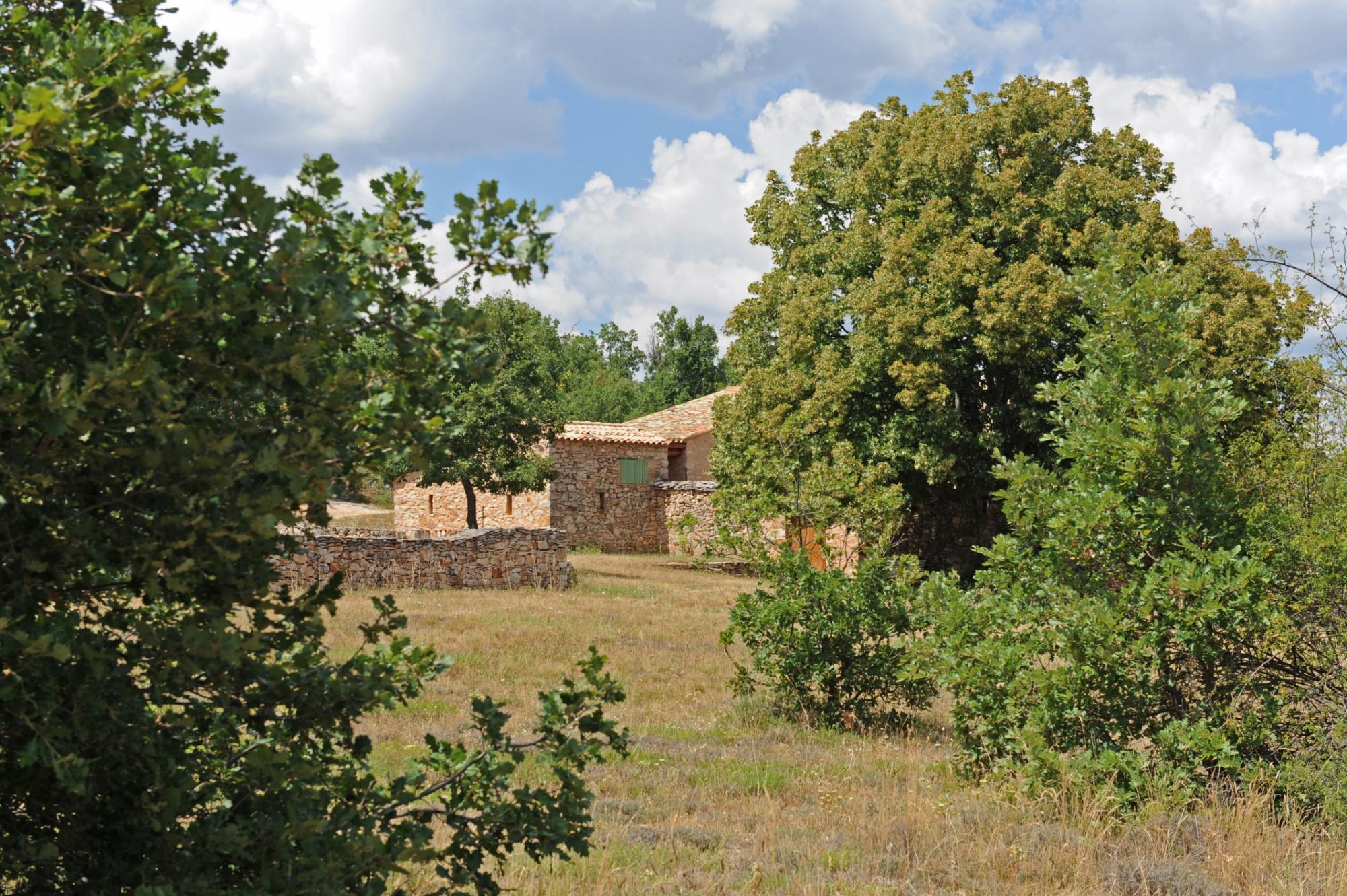 En vente dans les Monts du Vaucluse,  ferme provençale restaurée sur 35 hectares