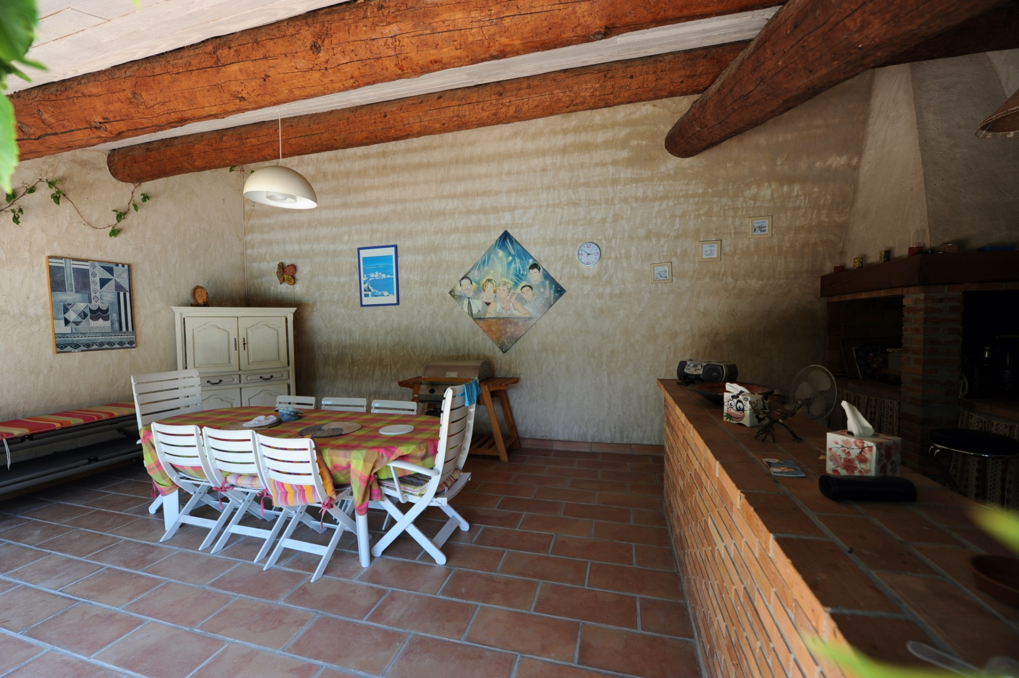 A vendre dans le Comtat Venaissin, mas ancien rénové sur un terrain d'environ 1500 m²