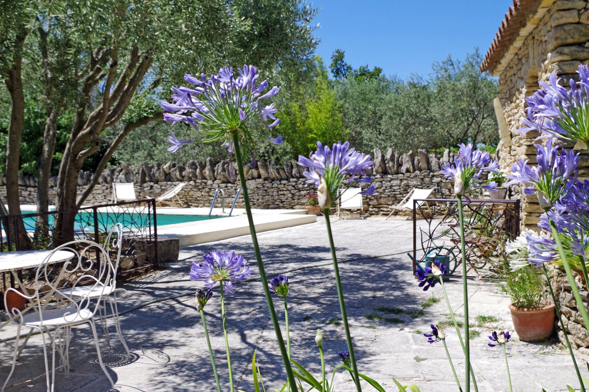 Propriété en pierre avec vue et piscine à vendre en Provence