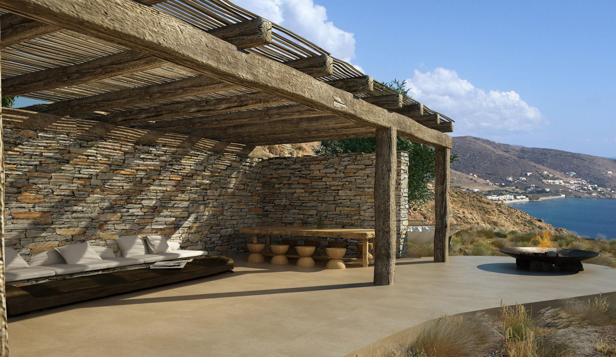 Superbe villa moderne à vendre sur l'ile de Kythnos en Grèce, avec vue sur la mer Egée