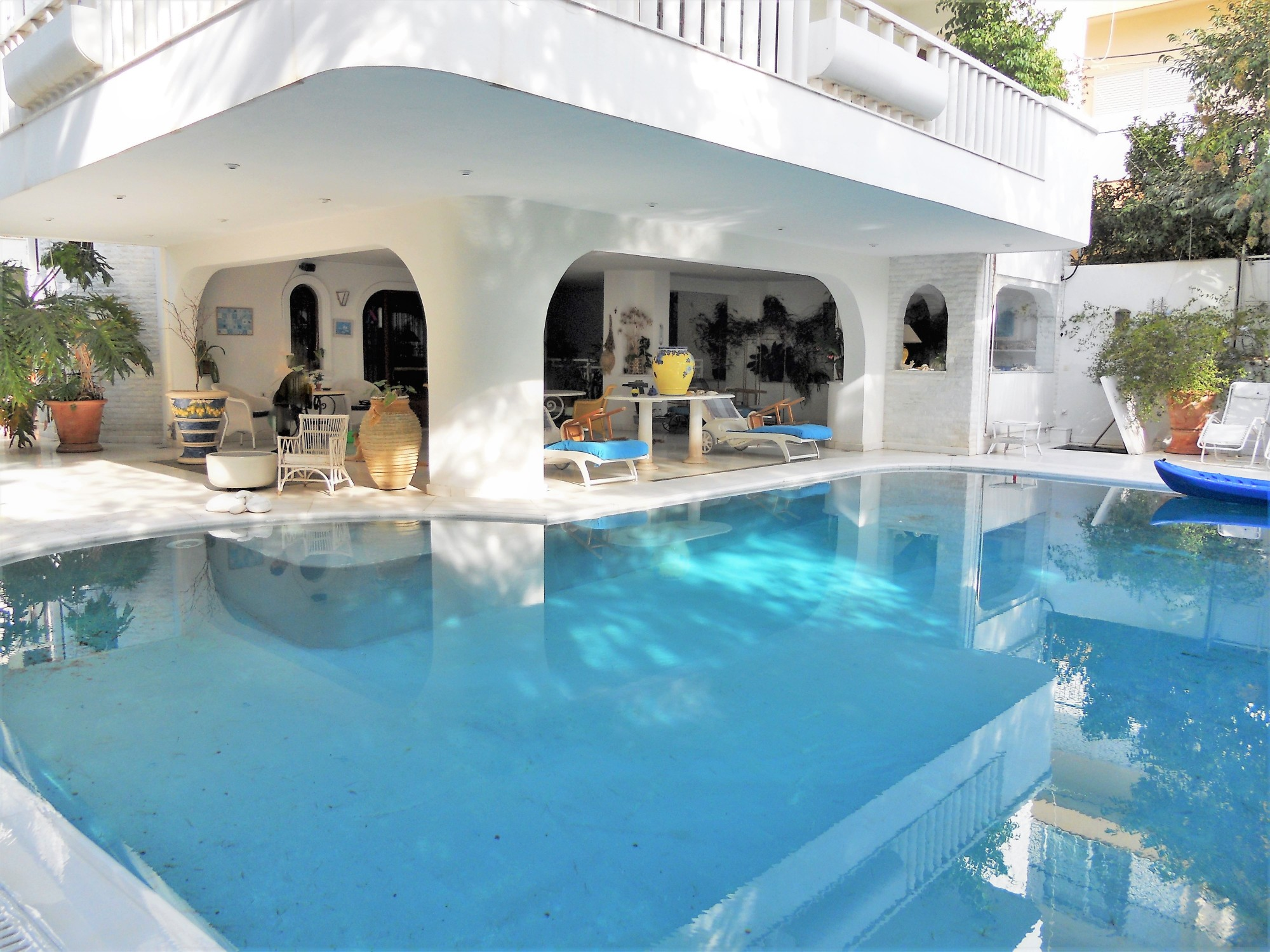 La piscine de la maison à la vente en Grèce