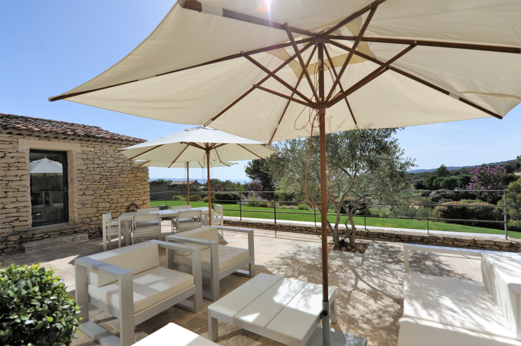 Lovely single storey stone property with views for sale in Gordes
