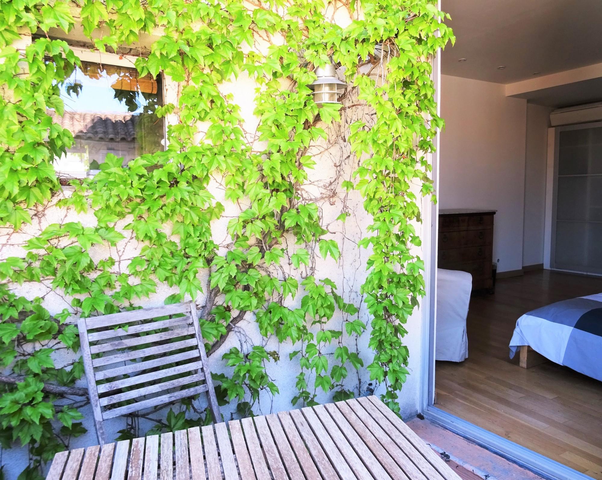 Avignon Intra Muros, zone piétonne, charmant duplex avec 2 terrasses.
