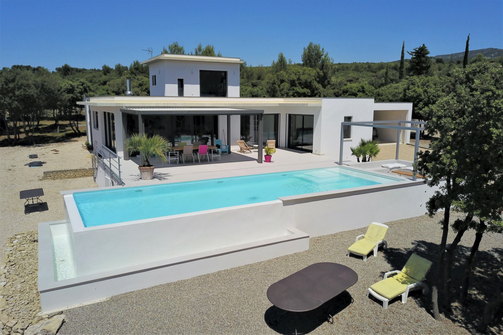 Ventes Saumane-de-Vaucluse, Maison contemporaine avec magnifique vue - Agence Rosier