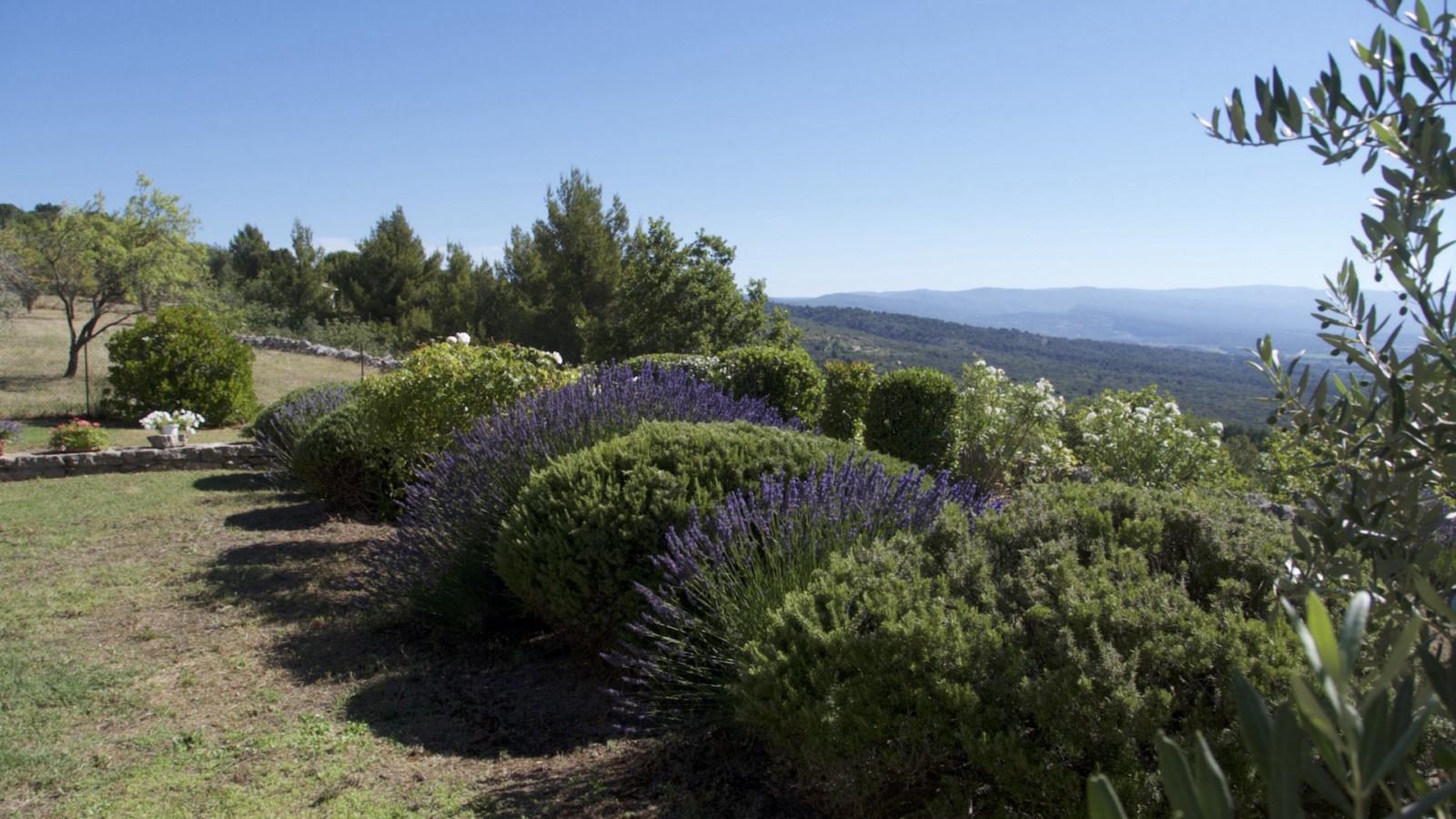 Terrain paysagé et vue imprenable à Gordes pour vos locations de vacances