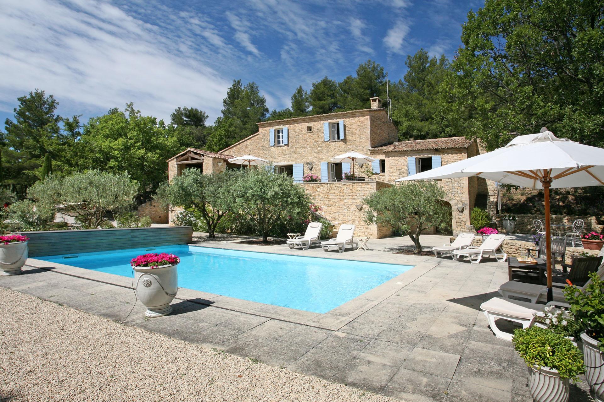 Location locations saisonnieres maison de caract re en - Location maison avec piscine luberon ...
