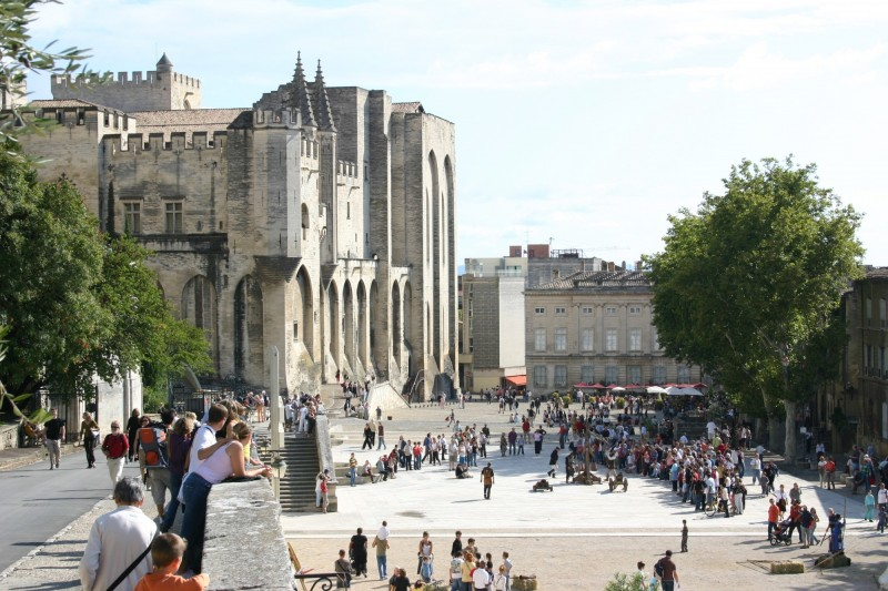 Avignon, palais des papes et festival