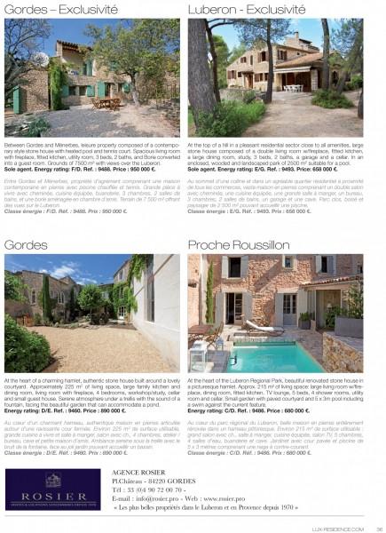 Lux Résidence, publicité Rosier Immobilier