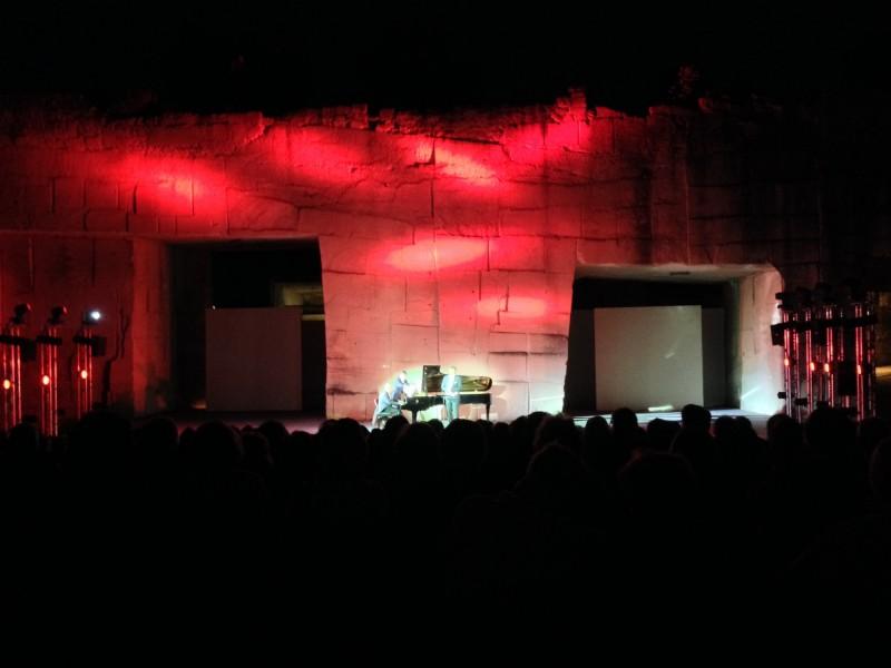 Le festival de Lacoste, recital dans les carrières