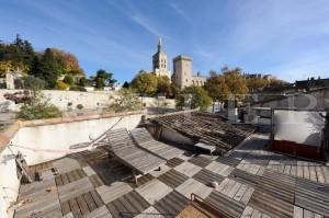 A vendre, maison de ville avec vue sur le Palais des Papes en Avignon