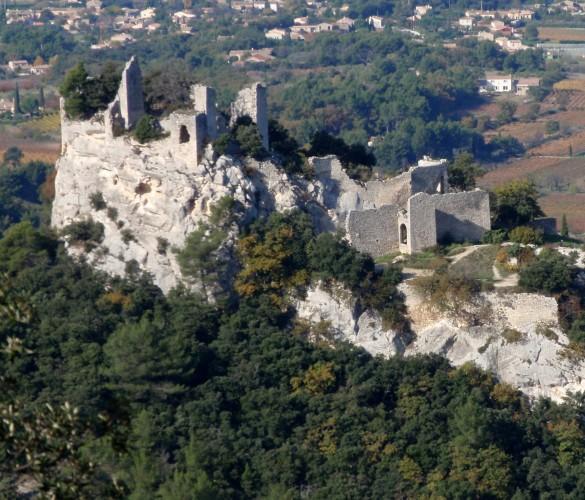 Le château en ruine d'Oppède-le-vieux